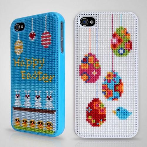 Från koreanska Connect Design kommer dessa materialsatser till din telefon - brodera ditt eget påskskal! (Foto Connect Design)