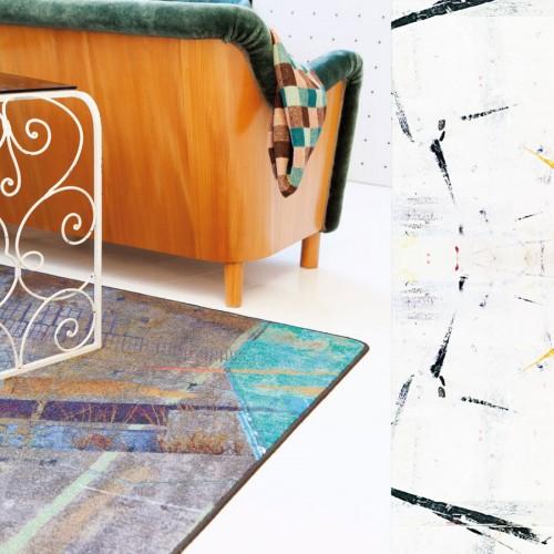 Matta av Camilla Eltell som driver företaget Creative Carpets. (Foto Creative Carpets)