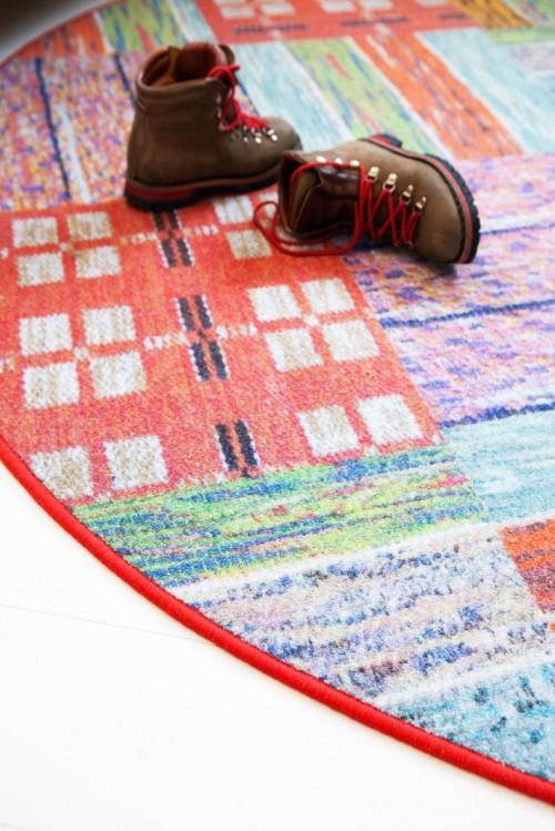 Matta inspirerad av gamla trasor, av Camilla Eltell, Creative Carpets. (Foto Creative Carpets)