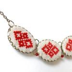 Broderat halsband av ukrainska brodösen Skrynka. (Foto Skrynka)