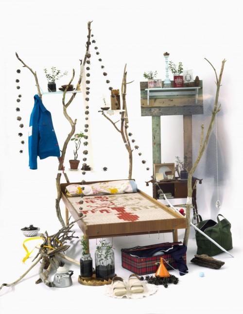 Klara Bothén från textil, kläder och formgivning, verket heter Den sista jäntan. Mycket spännande formgivare, jag har skrivit om henne tidigare. (Foto Steneby)