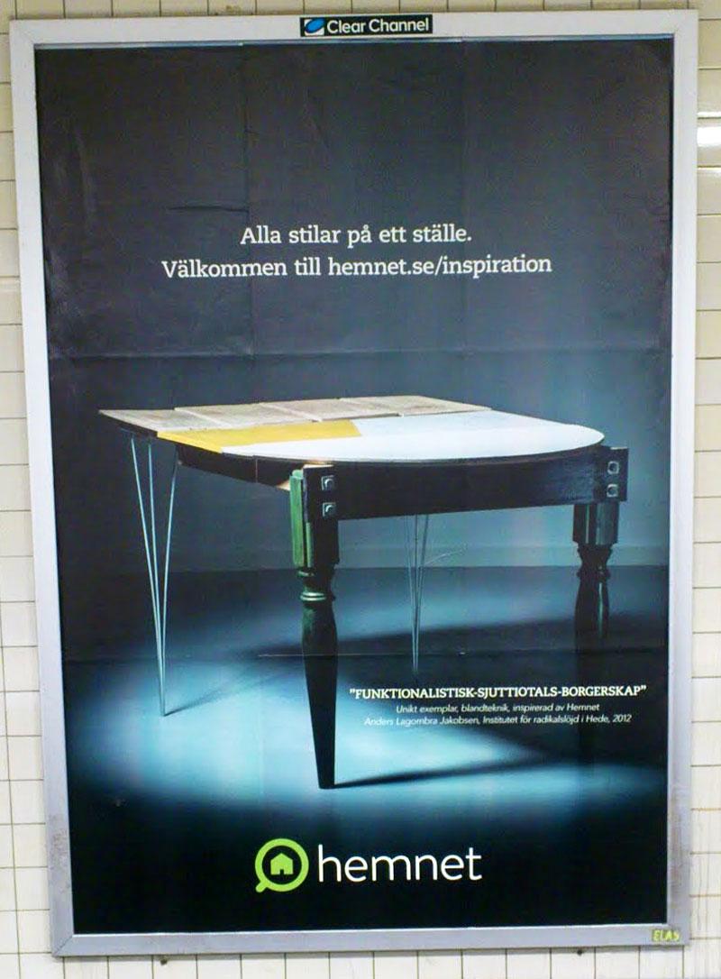 Funktionalistisk sjuttiotals-borgerskap. Anders Lagombra Jakobsens tolkning av bostadssajten Hemnet. (Foto Kurbits)