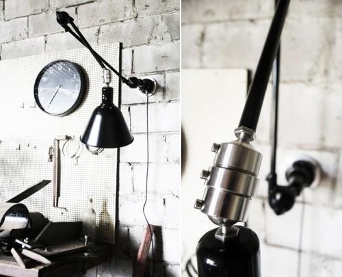 Detaljer av lampan från Mackapär. (Foto Mackapär)