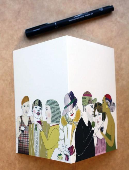 Alla har de en egen historia - mönstret People av Tina Backman. (Foto Tina Backman)