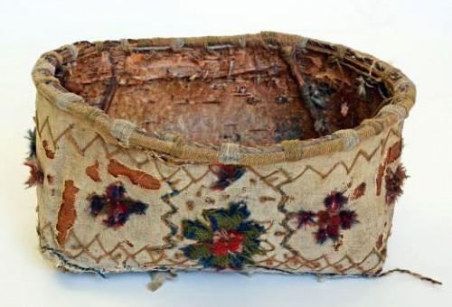 Riktigt fint bevarad - näver som slöjdmaterial och produkt finns i utställningen Näver på Hälsinglands museum. Dessutom diskuteras materialet vid helgens seminarium. (Foto Hälsinglands museum)