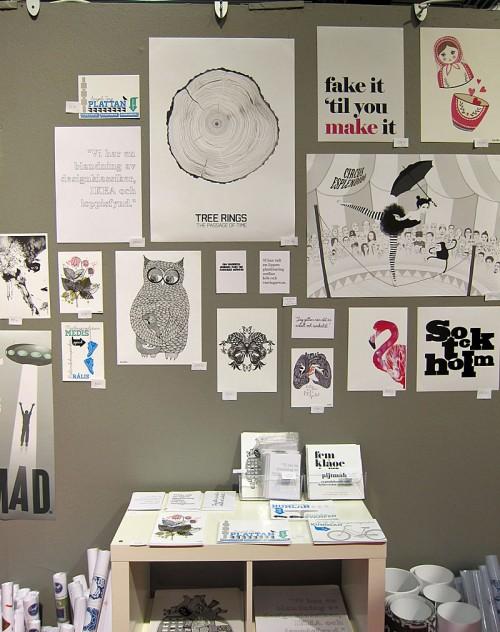 Mycket tryck hos Nordic Design Collective. (Foto Kurbits)