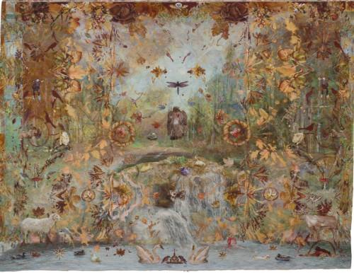 Annika Ekdahls fantastiska vävda gobelänger är ett lysande exempel på långsamhetens lov. Detta verk ingår i Nationalmuseums Slow Art. (Foto Nationalmuseum)