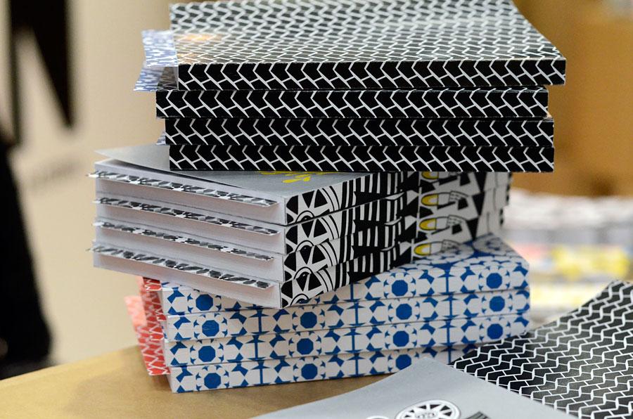 Finska gruppen Fyran är helt nystartade och gör intressanta pappersprodukter - med fantastiska mönster! (Foto Kurbits)