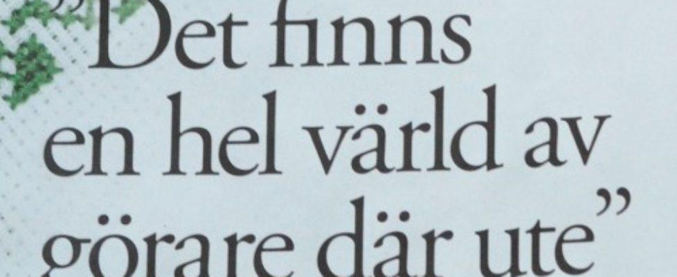 Framtida slöjd i Aftonbladet