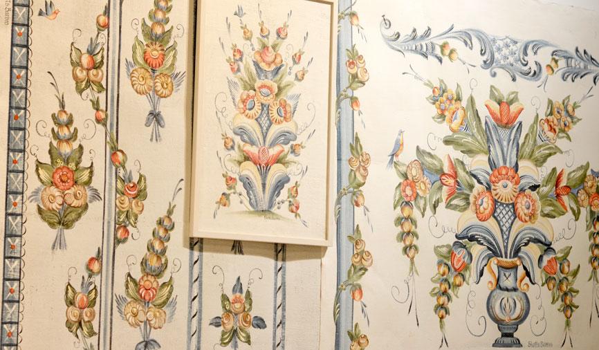 Också textil metervara med klassiskt kurbitsmotiv är på gång. Från Almedahls det också. (Foto Kurbits)