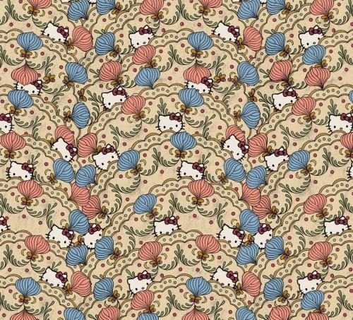 Mönstret Wave av Bea Szenfeld. Hello Kitty är med på ett hörn också. (Foto Plus Licens)