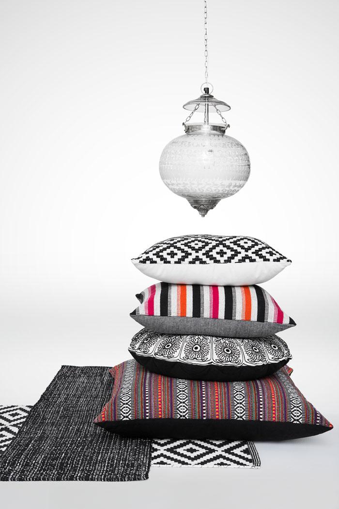 Vårnytt - textil och kuddar. (Foto Indiska)