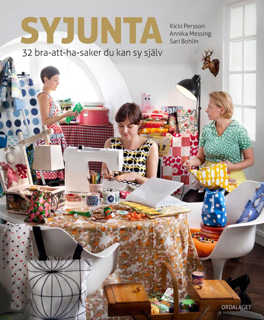 Omslaget till boken Syjunta, och dess upphovsmakare; Kicki (Foto Ordalaget)