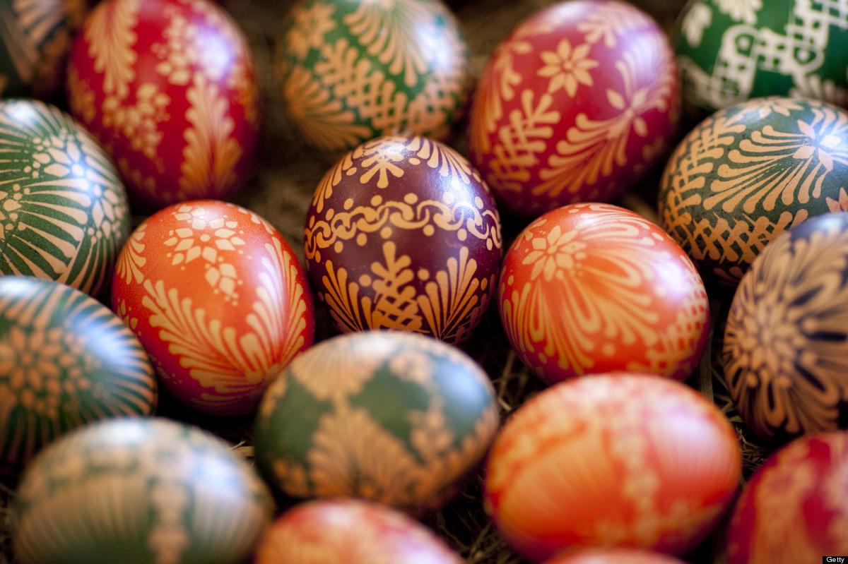 Sorbiska ägg från en marknad i  Hoyerswerda i östra Tyskland. (Foto Huffington Post)