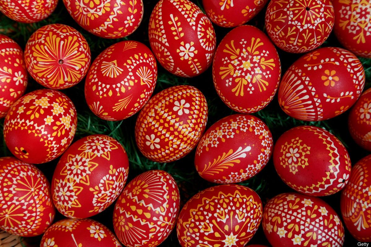 I  Schleife i Tyskland hålls det årligen en sorbisk påskäggsmarknad. Visst vill man åka dit? (Foto Huffington Post)