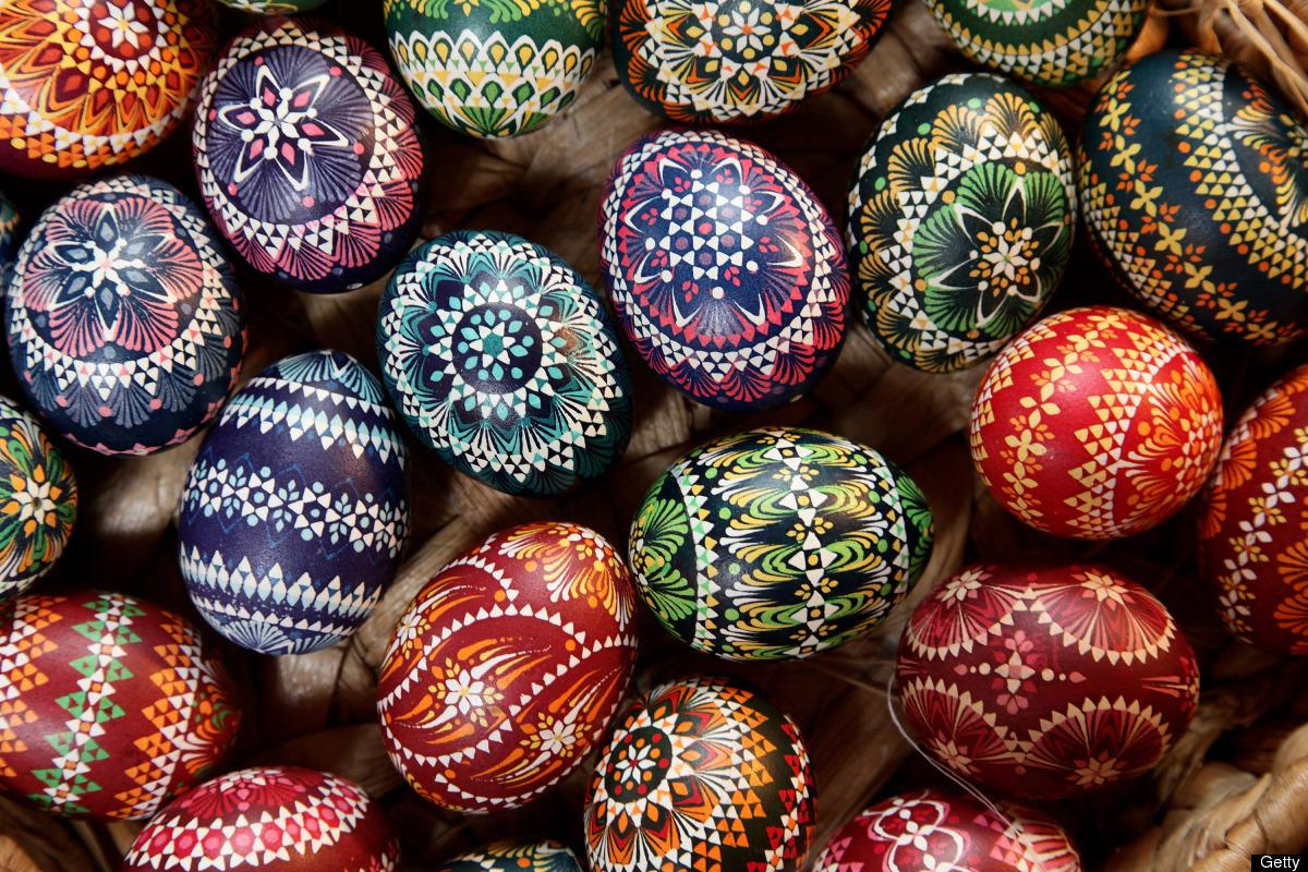 Påskägg från en sorbisk marknad i   Schleife, Tyskland. (Foto Huffington Post)