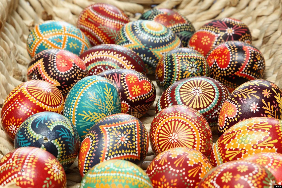Sorbiska ägg från en påskäggsmarknad i östra Tyskland. (Foto Huffington Post)