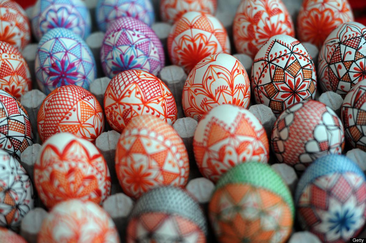 Folkkonsten älskar påskägg