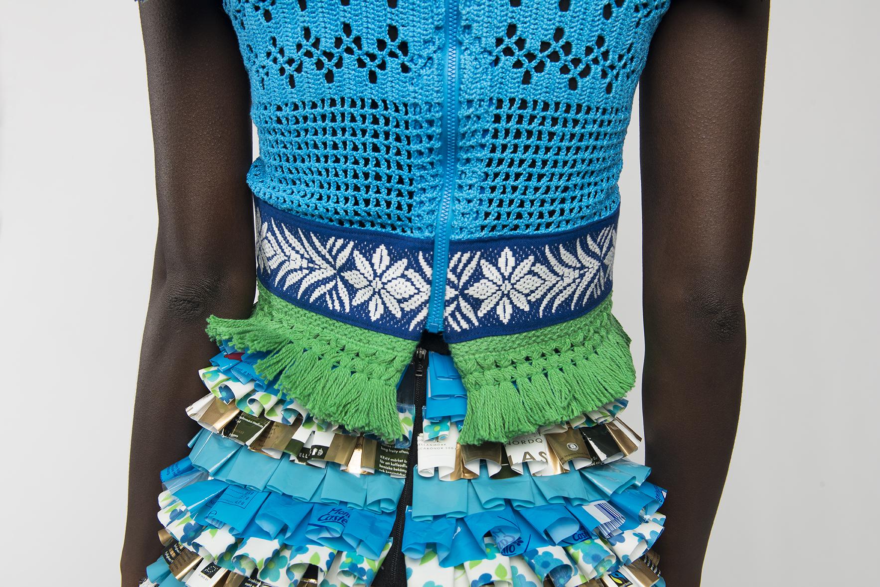 Pasta och kaffe byggde denna klänning