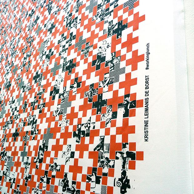 Examensutställning på Konstfack, Kristine Leimanis de Borst, Textile in the expanded field. (Foto Konstfack)