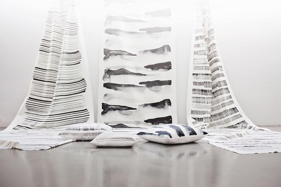 Hela kollektionen Textila landskap av Hanna Dalrot. (Foto Hanna Dalrot)