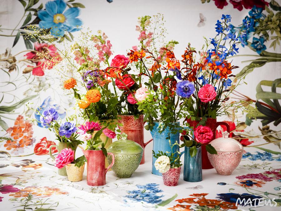 Blommor och blader...från Mateus produktion. (Foto Matéus)