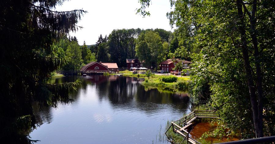 Ett besök i Växbo rekommenderas verkligen! Inte bara för dessa fantastiska omgivningar... (Foto Kurbits)