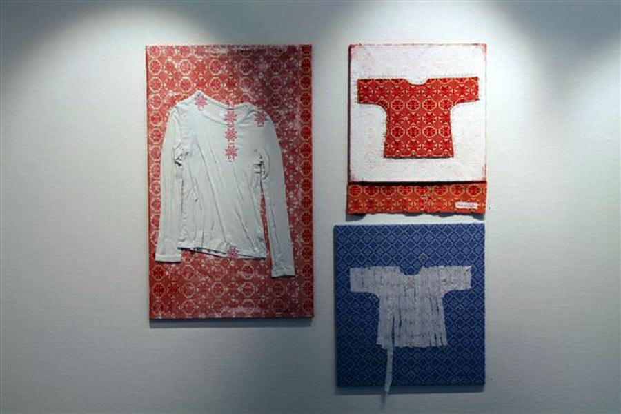 Utställningshallen där Katarina Björns verk visas. (Foto Katarina Björn)