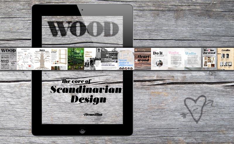 Träälskare, furunostalgi, kulturhistoria kring trä och en massa DIY. Kolla in vår nya app Wood - the core of Scandinavian Design! (Foto Hemstilat, ur appen Wood)