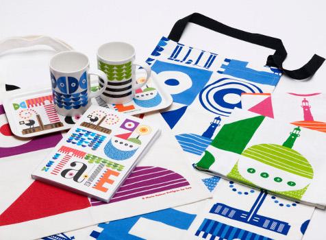 Marias Tate-kollektion, anteckningsblock, handduk, förkläde och muggar speciellt för Tate i London. (Foto Metagram)