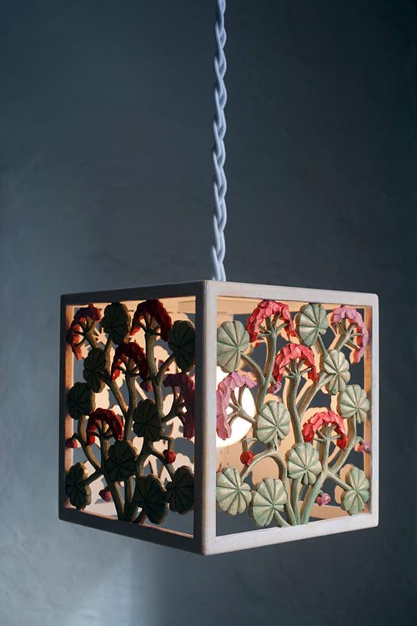 Lampa av Carsten Nilsson, med pågående utställning på Karla Konsthantverk. (Foto Carsten Nilsson)