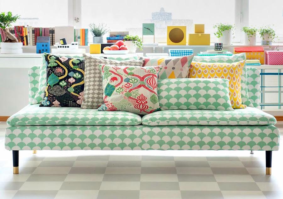 Finfina textilier från Littlephant, som genom samarbete med Bemz kan pryda din Ikeasoffa. En rad nyheter lanseras från Bemz. (Foto Bemz)