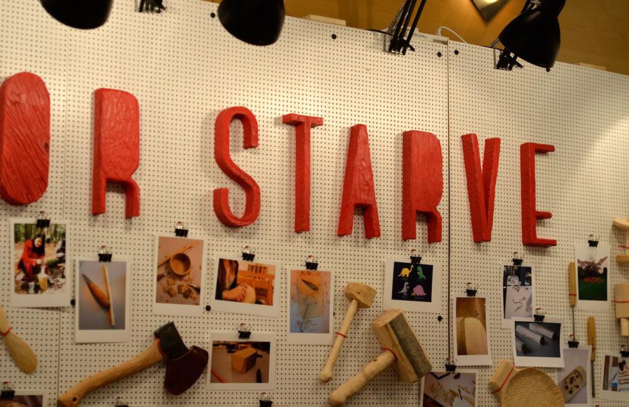 ...or starve. Industridesign, Lunds Universitet. (Foto Kurbits)