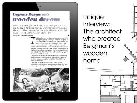 Vi har också intervjuat Ingmar Bergmans arkitekt och fått veta en massa spännande om huset på Fårö...(Foto ur Wood by Hemstilat)