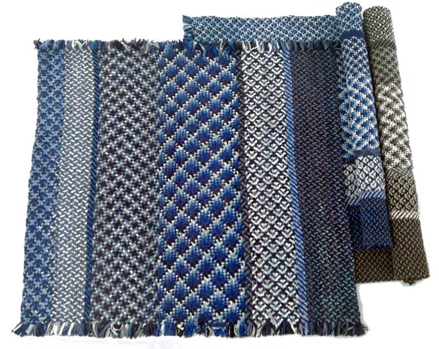 Kasuri, matta flätad av trikå i måttet 200x250 centimeter. (Foto Re Rag Rug)