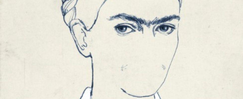 Illustratören María Herguetas porträtt av Frida Kahlo, strålande! (Illustration María Hergueta)