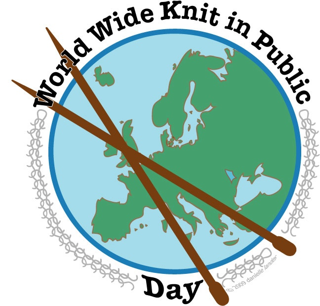 Just nu pågår World Wide Knit in Public Day. Greppa stickorna och var med! (Illustration WWKIPDAY)