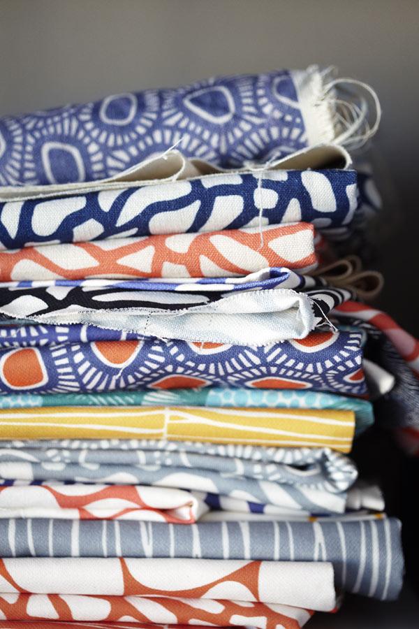 Mönster! Ulrika Gyllstads textiler inspirerar. (Foto Karin Björkquist)