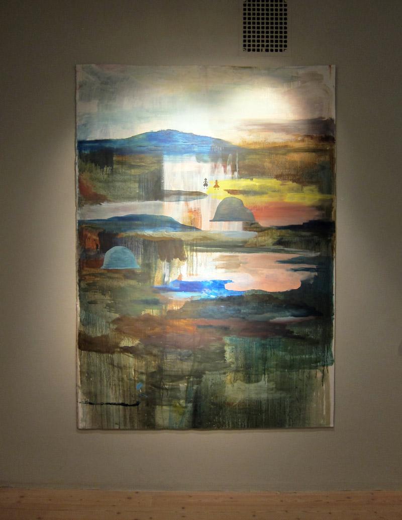 Målningen Berget Masten av Ida Björs, en av mina favoriter. Just nu på Bollnäs konsthall. (Foto Kurbits)