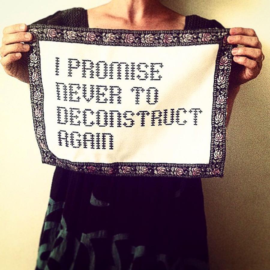 Ytterligare ett budskap från Elisabeth. (Foto Elisabeth Bucht)