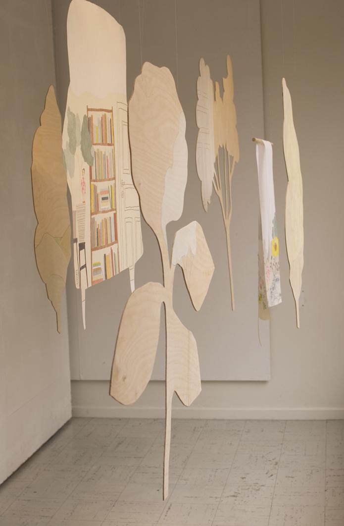 Fin figursågad plywood ingår också i utställningen från Roeraade Bryggare. (Foto Roeraade Bryggare)
