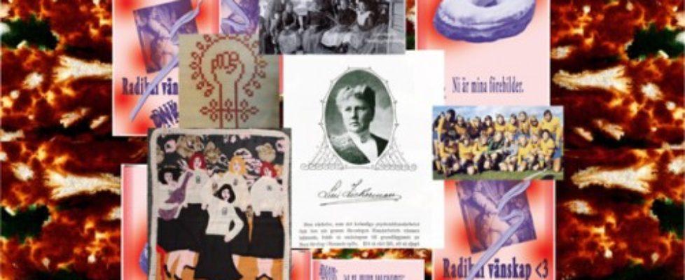 """Idag andra och sista dagen i den pågående workshopen på Two Little Birds i Göteborg - gå dit om du kan! Då missar du inte dagens slöjdworkshop: """"den tar avstamp i Lilli Zickermans hatade virkning samt verk som """"La Cueca Sola"""" och uppmärksammar glasindustrins inbinderskor till Sveriges första damlandslag Öxabäcks IF, 1966"""" (Collage från arrangörerna)"""