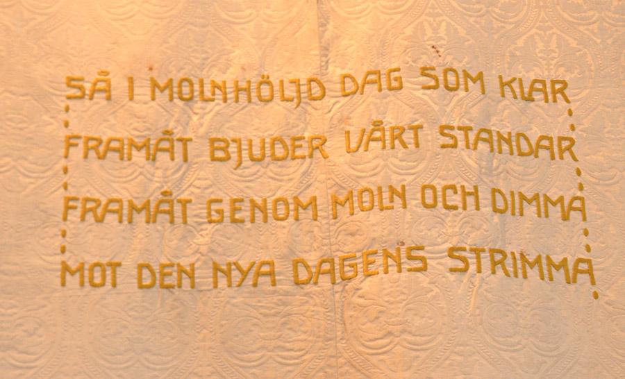 Craftivisten Sarah Corbett i Stockholm