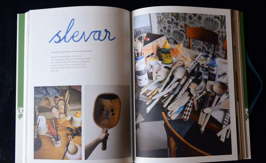 Målade slevar ur nyutkomna boken Fine Little Day, av Elisabeth Dunker. (Foto uppslag Kurbits)