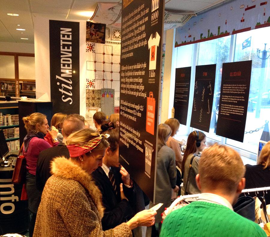 Vernissage för utställningen Stilmedveten,  här i Stockholm, men på lördag öppnar utställningen igen i Malmö! (Foto Sveriges Konsumenter)