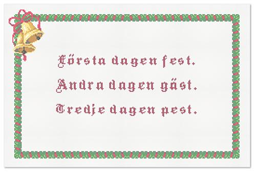 En något för djärv julklapp kanske? Gör din egen bonad med eget budskap! (Foto The Folklore Company)