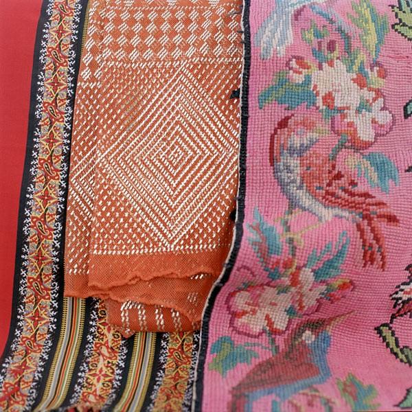 Textilier från mässan som representerar temat Nordic Folk. (Foto Formex)