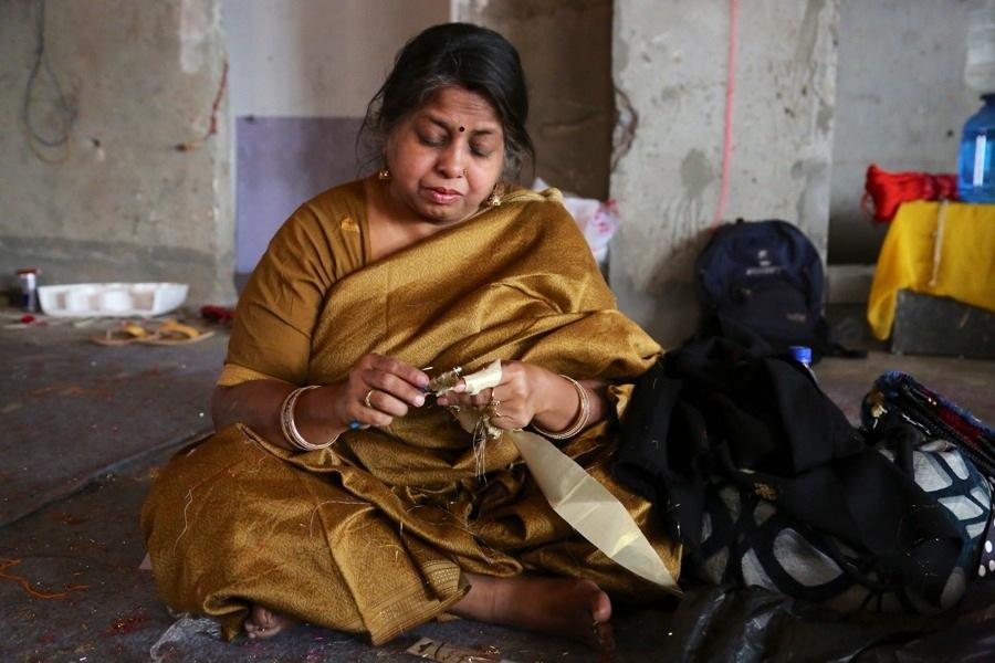 Oleks verk engagerade många indiska kvinnor. (Foto © Pranav Mehta/St+ARTDehli)