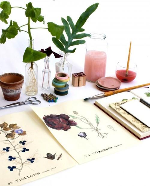 Var med på workshopen Blomsterblad, arrangerad av Nina Roeraade och Katarina Bryggare. (Foto Roeraade Bryggare)