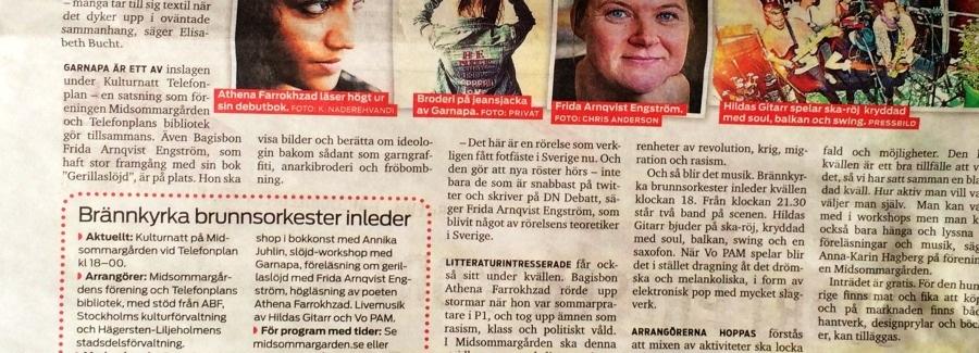 Gerillaslöjd på Kulturnatten i Stockholm